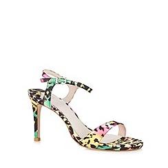 Faith - Green leopard strap high sandals