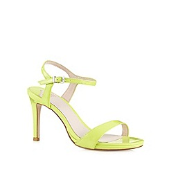 Faith - Lime patent high heel sandals
