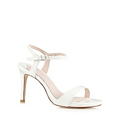 Faith - White patent high heel sandals