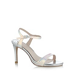 Faith - Silver scale high sandals