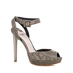 Faith - Metallic glitter peep toe high sandals