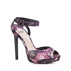 Faith - Purple floral peep toe high sandals
