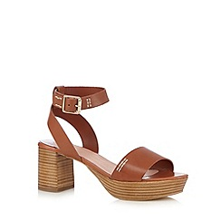 Faith - Tan leather mid sandals