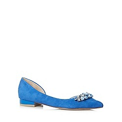 Faith - Blue jewel pointed ballet pumps