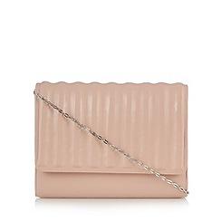 Faith - Light pink ridged clutch bag
