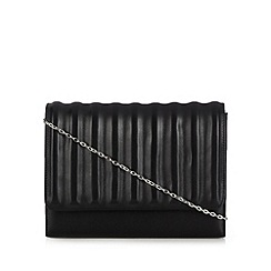 Faith - Black ridged clutch bag