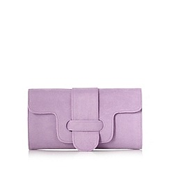 Faith - Lilac belted flapover clutch bag