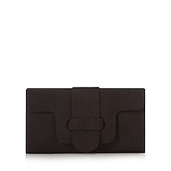 Faith - Black belted flapover clutch bag