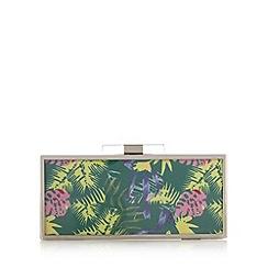 Faith - Green tropical print clutch bag