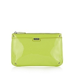 Faith - Lime patent clutch bag