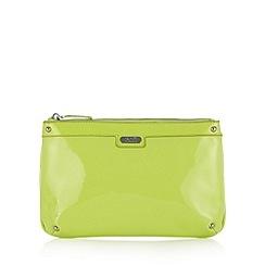 Faith - Lime patent clutch bag