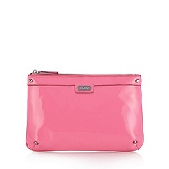 Faith - Bright pink patent clutch bag