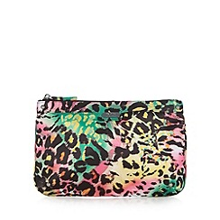 Faith - Green animal print clutch bag