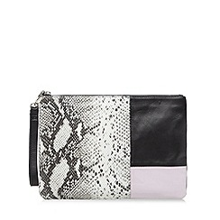 Faith - Black leather clutch bag