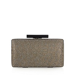Faith - Metallic glitter animal print clutch bag