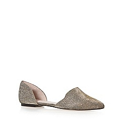 Faith - Gold metallic slip ons