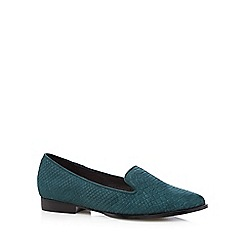 Faith - Dark turquoise snakeskin effect pumps