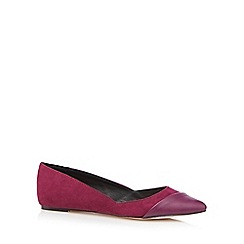 Faith - Purple suedette pointed pumps