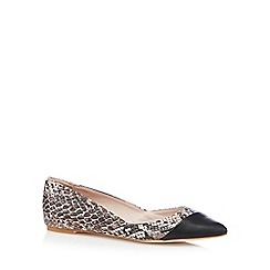 Faith - Natural textured snakeskin pointed pumps