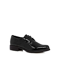 Faith - Black patent lace up shoes
