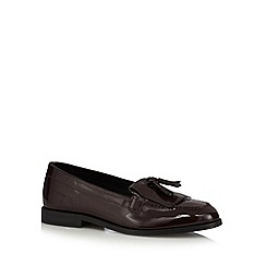 Faith - Wine patent fringed loafers