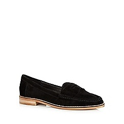 Faith - Black suede slip on shoes