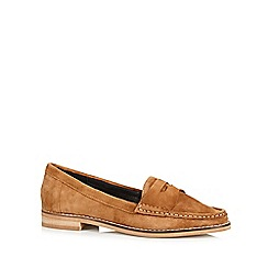 Faith - Tan suede slip on shoes