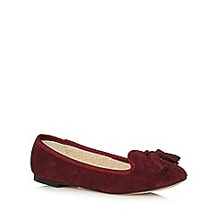 Faith - Dark red suede slip-on shoes