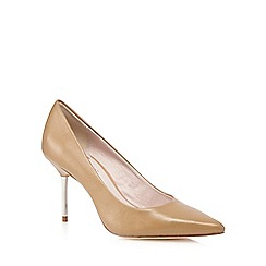 Faith - Camel leather pointed toe high court shoes