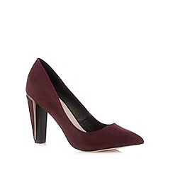 Faith - Dark red asymmetric pointed shoes