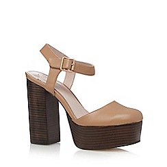 Faith - Camel strappy platform sandals