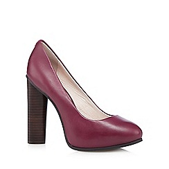 Faith - Plum leather platform high court shoes