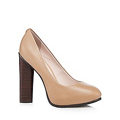 Faith - Camel leather platform high court shoes