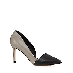 Faith - Grey block colour pointed court shoes