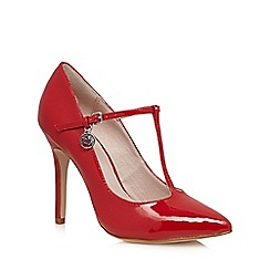 Faith - Red patent pointed high court shoes