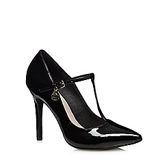Faith - Black patent pointed high court shoes