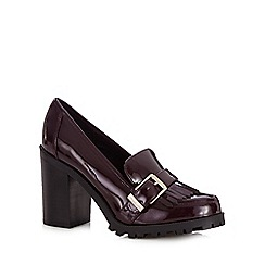 Faith - Dark red high heeled loafers