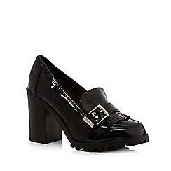 Faith - Black high heeled loafers