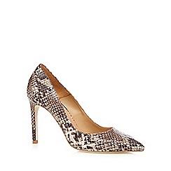 Faith - Natural snakeskin effect high court shoes