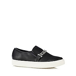 Faith - Black chain detail slip-on shoes