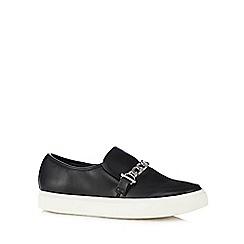 Faith - Black chain detail slip-on shoes