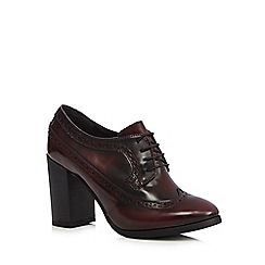Faith - Dark red brogue style heels