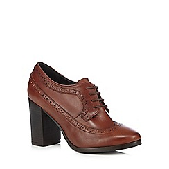 Faith - Tan brogue style heels