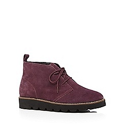 Faith - Purple suede lace up ankle boots