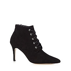Faith - Black laced high heeled ankle boots