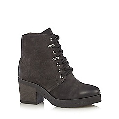 Faith - Black 'Satman' lace up boots