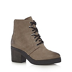 Faith - Grey 'Satman' lace up boots