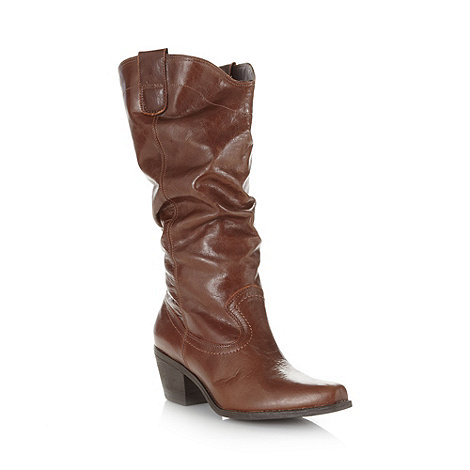 Faith - Brown brazilian leather cowboy boots