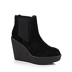 Faith - Black 'Stilo' suede high Chelsea boots