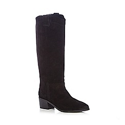 Faith - Black suede high leg boots